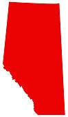 vector illustration of Alberta map