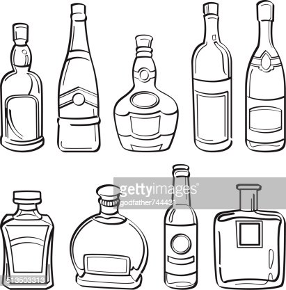 Alcohol bottle drawing