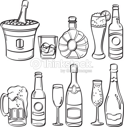 Alcohol Bottles Collection Vector Art | Thinkstock