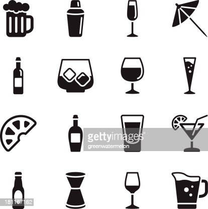 Alcohol Icons : stock vector