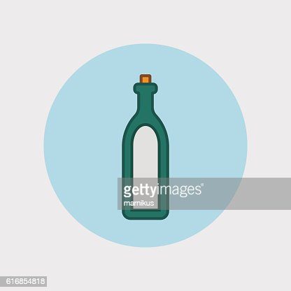 Alcohol sign icon. Drink symbol. Bottle : Vector Art