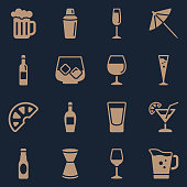 Vector File of Alcohol Symbols Color related vector icons for your design or application. Raw style. Files included: vector EPS, JPG, PNG. See more in this series.