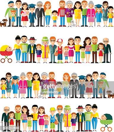 Tutte le età dei cittadini europei. : Arte vettoriale