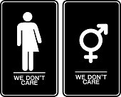 All gender restroom sign. Male, female transgender