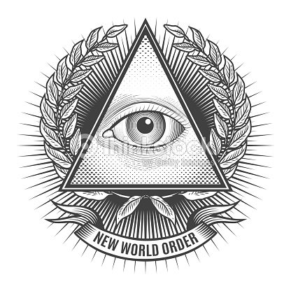 All Seeing Eye In Delta Triangle Vector Art