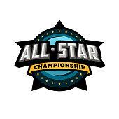 All star sports, template logo design. Vector illustration
