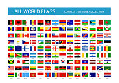 All Vector World Country Flags. Part 1. All flags are organized by layers with each flag on a single layer properly named.