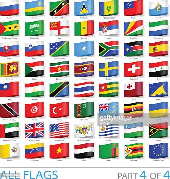 Tous les drapeaux du monde d'étiquettes-Illustration