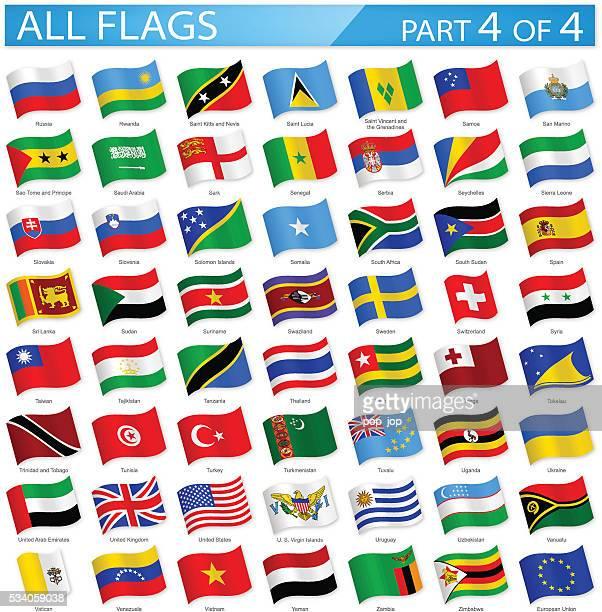 Tous les drapeaux du monde-agitant icônes-Illustration