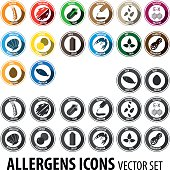 Two kind of allergen icons design