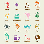allergies elements, vector infographic icons
