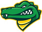 Alligator design element that is a great mascot for a sports team. Look at those teeth. Easy to edit and change color.