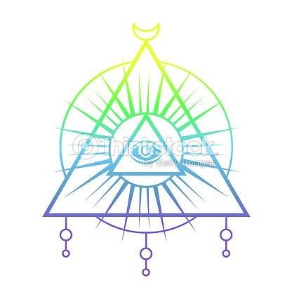 Allseeing Eye Symbol Sacred Geometry Vector Art Thinkstock