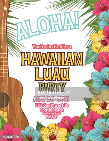 hawaiian luau invitations template free
