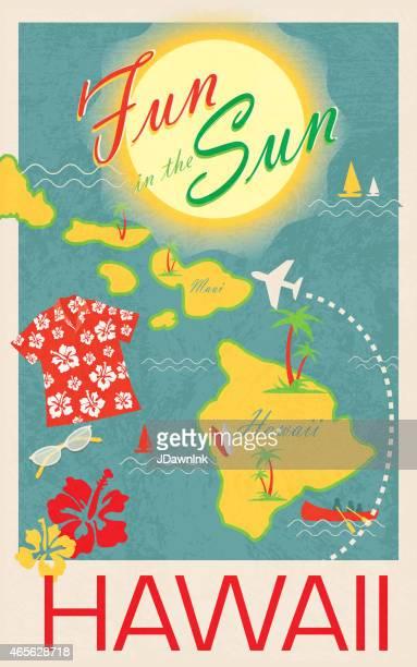 Aloha revival Hawaiian Luau-poster-design-Vorlage-poster