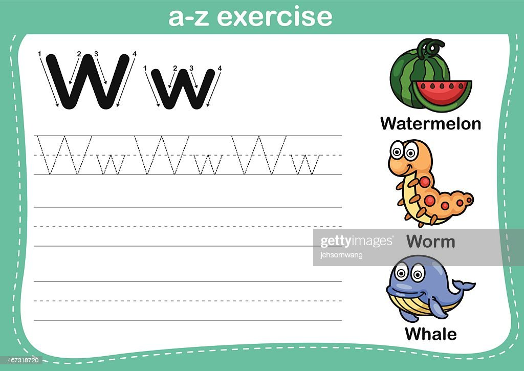 W Vocabulary Stock Vector Art &amp- More Images of Alphabet 579133076 ...