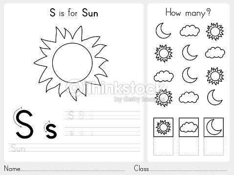 Alphabet Az Tracing And Puzzle Worksheet stock vector