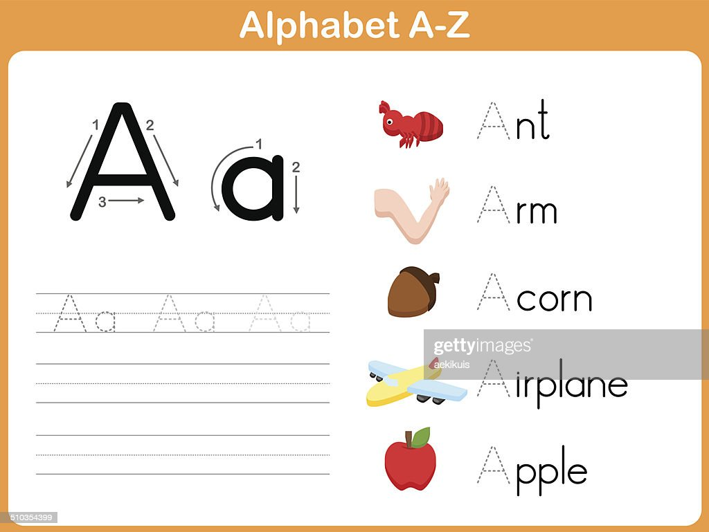 Worksheets Printable Alphabet Worksheets A-z free alphabet tracing worksheets a to z sharebrowse delibertad