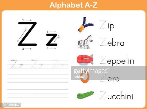 Number Names Worksheets : alphabet tracing worksheets a-z Alphabet ...