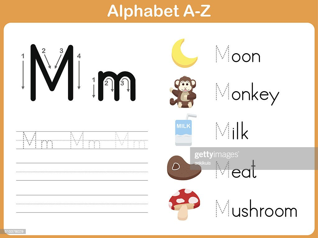 Alphabet Tracing Worksheet Writing Az Vector Art – Alphabet Tracing Worksheets A-z