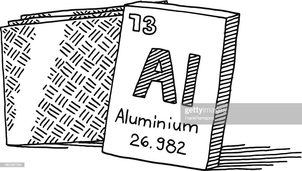 Aluminium chemical element drawing vector art getty images - Simbolo de aluminio ...