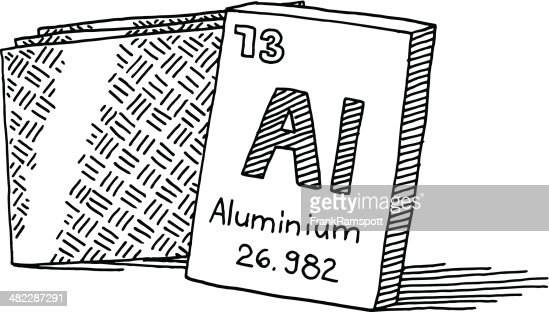 Line Drawing Rules Chemistry : Aluminium chemical element drawing vector art getty images
