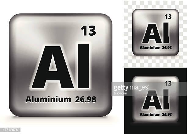 Aluminium Square Element Hintergrund-Set