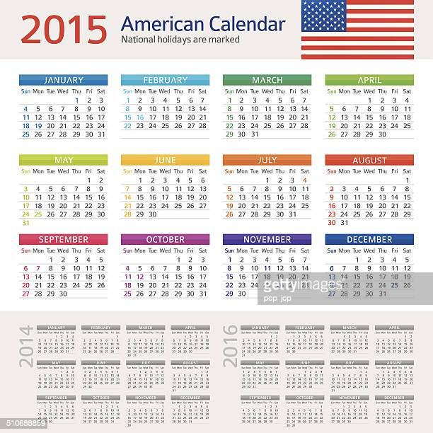 American Calendar 2015 - Illustration
