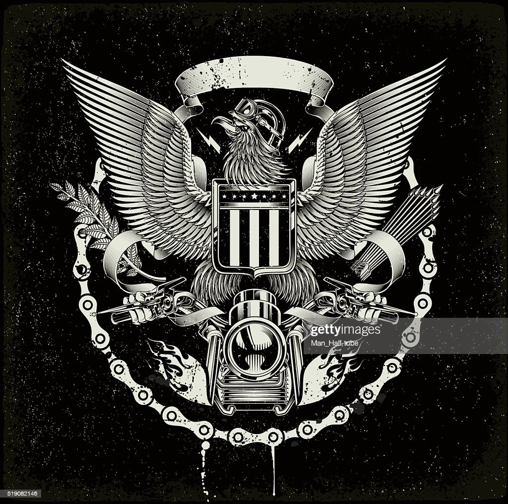 american coat of arms biker eagle vector art getty images