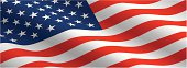 This image of the American flag would make an excellent backdrop or banner.