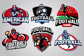 vector of American Football Badge Design set