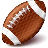 american football ball isolated on white vector vector art thinkstock