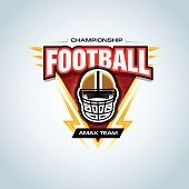 American Football - Sport, Football - Ball, Sign, Vector, Trophy