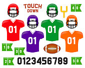 American Football photo booth props for your decoration. Grab a prop and strike a pose!