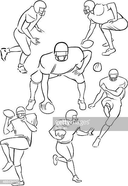American Football playing figures 3
