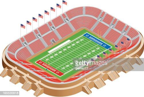 American Football Stadium Vector Art Getty Images