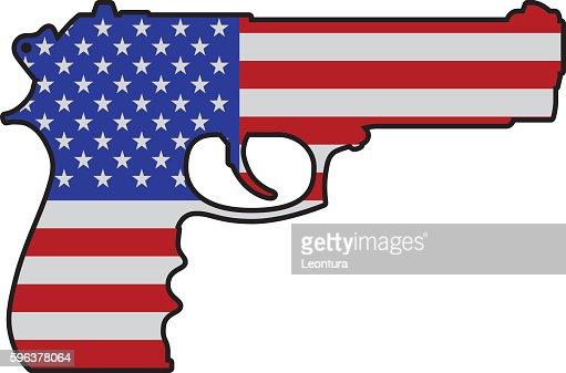 American Gun : Vector Art