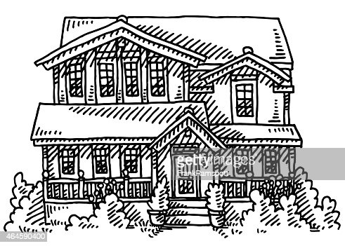 American home building drawing vector art getty images for Americas home builders