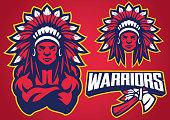 vector of American Native Warrior
