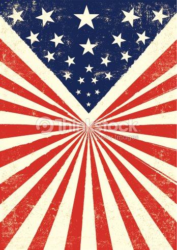 American Retro Background Vector Art | Thinkstock