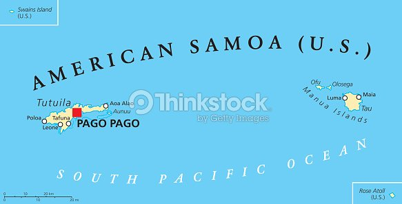 American Samoa Political Map Vector Art | Thinkstock