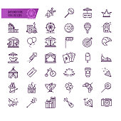 Amusement park, attraction vector icons for your design