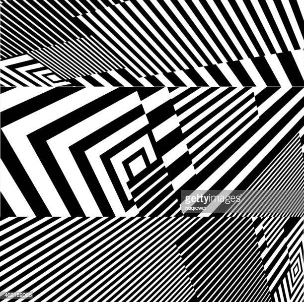An abstract black and white stripe pattern background