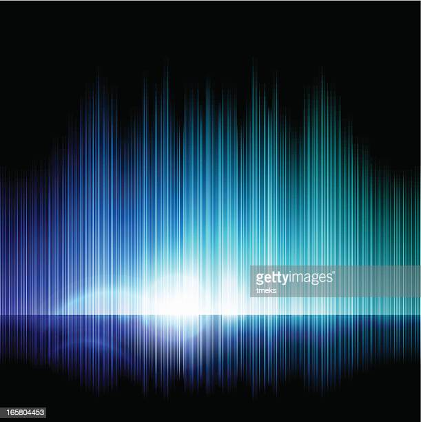 An abstract light showing shades of blue