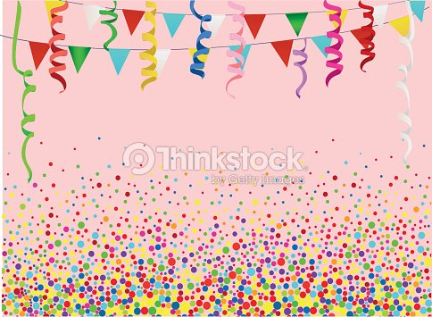 An Empty Invitation To A Holiday In A Heap Of Colorful Confetti