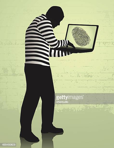 An image of computer identity theft