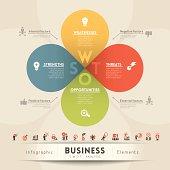 SWOT Analysis Strategy Diagram Illustration