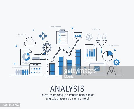 Analysis vector illustration : arte vettoriale