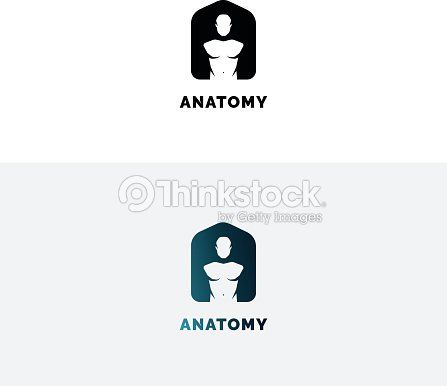 Emblema De La Anatomía Con El Torso Humano Símbolo De Espacio ...