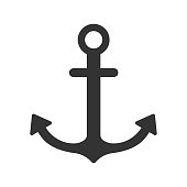 nautical anchor vector icon isolated on white background. summer recreation concept. nautical anchor flat icon for web and ui design